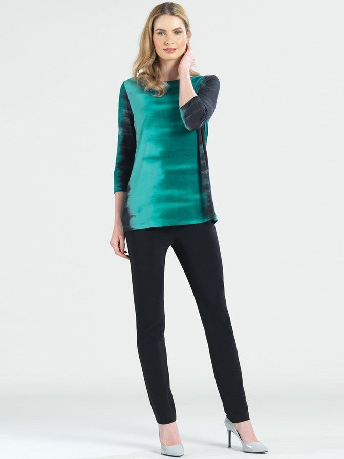 Clara Sun Woo Ombre Green Scoop Neck