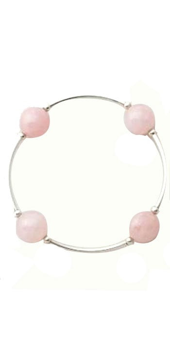 Blessing Bracelet in Rose Quartz 12mm beads