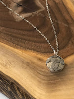 Julie Kreamer Chanel Button Necklace - CC Silver