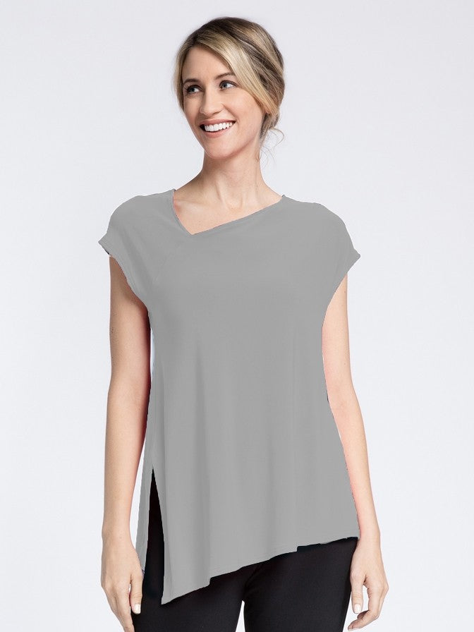 Sympli Short Sleeve Slant Top