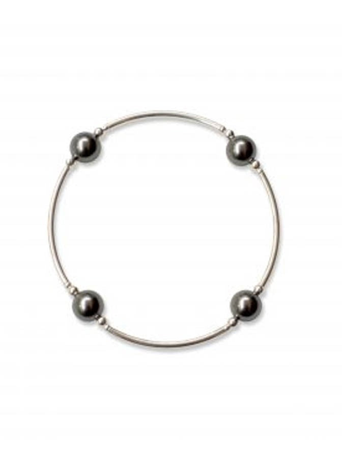 Blessing Bracelet Graphite Pearl Smaller Bead