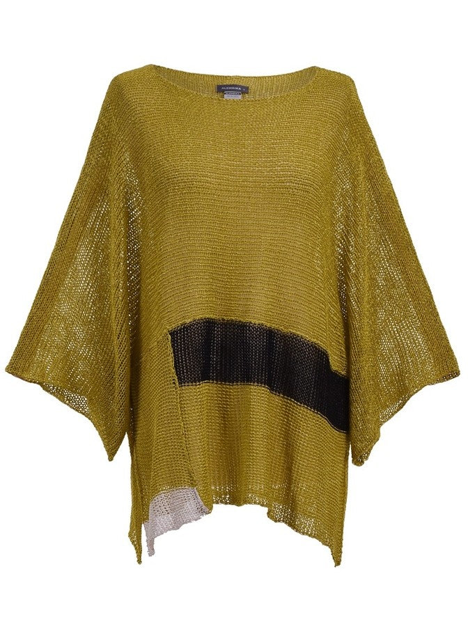 Alembika Boat Neck Stripe Sweater in Lemon