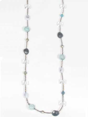 Chan Luu Statement Strand Necklace Amazonite