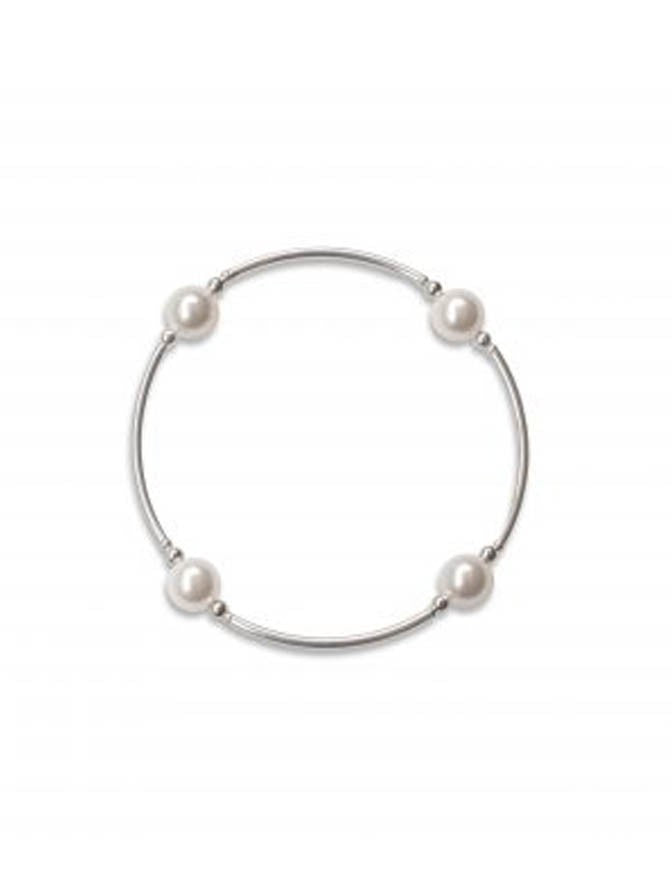 White Pearl Blessing Bracelet Smaller Bead