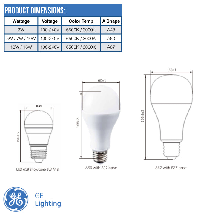 GE LED Bulbs