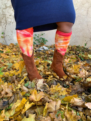 Hand Dyed Knee Highs