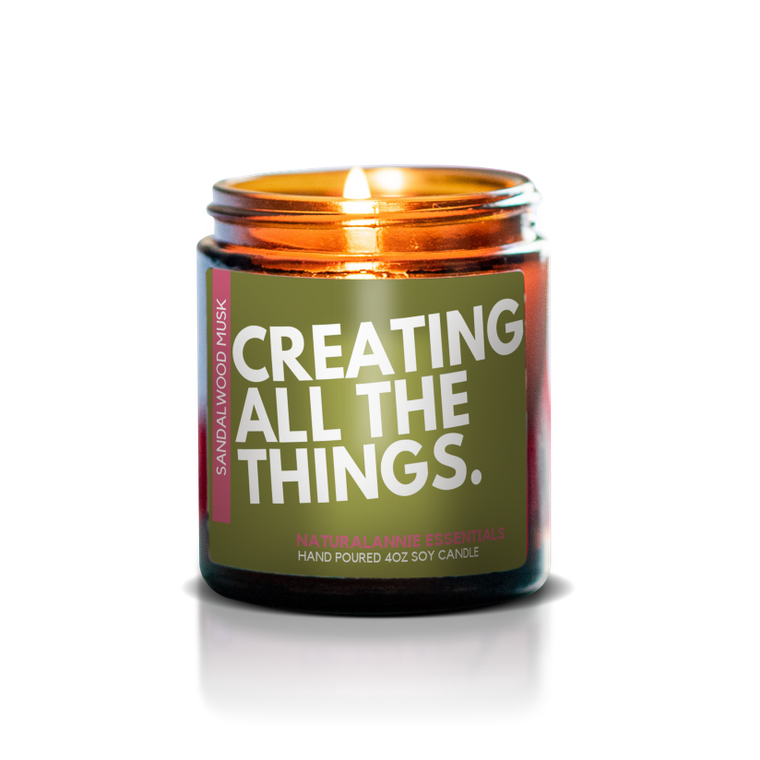 Creating All The Things Natural Soy Candle - 4oz