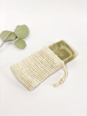 Biodegradable Natural Sisal Soap Saver Pouch | Eco Friendly | Zero Waste | Vegan | Plastic Free
