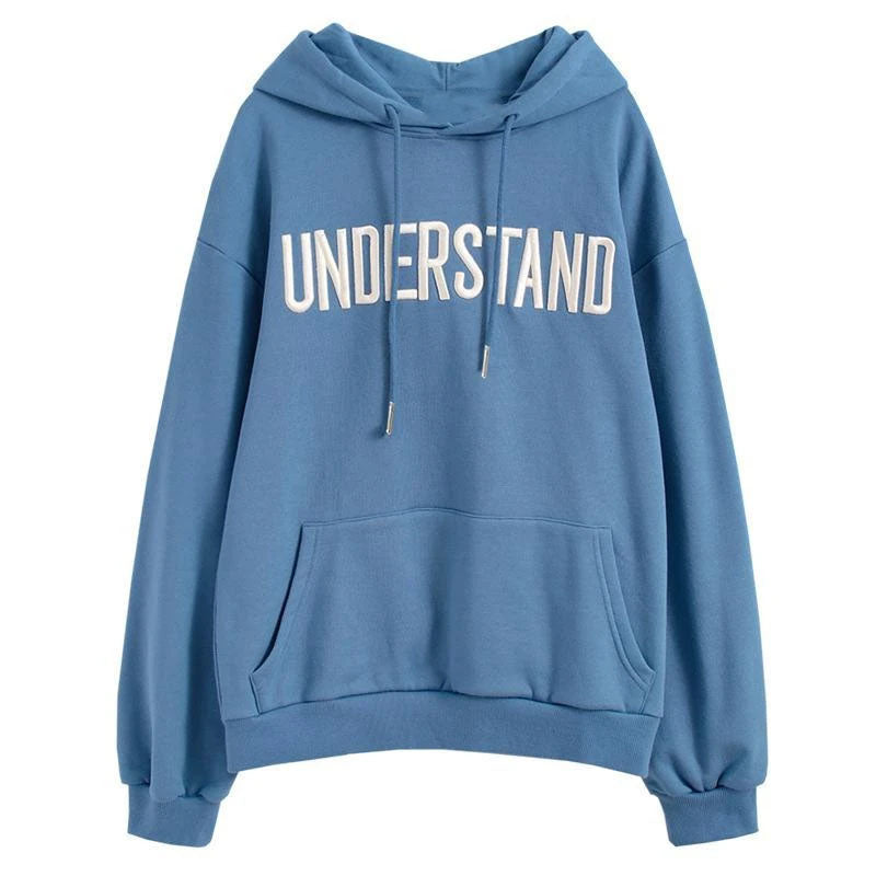 Understand Embroidered Plush Hoodie