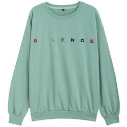Silence Embroidered Long Sleeve Tee