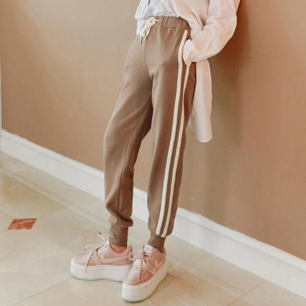 Franco Leisure Striped Jogger Pants