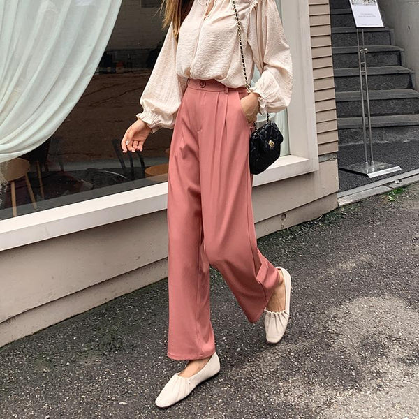 Draped Relaxed Trousers