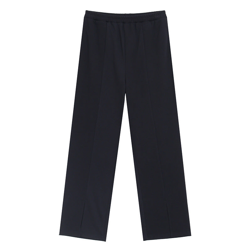 Front Slit High-Waisted Jogger Pants