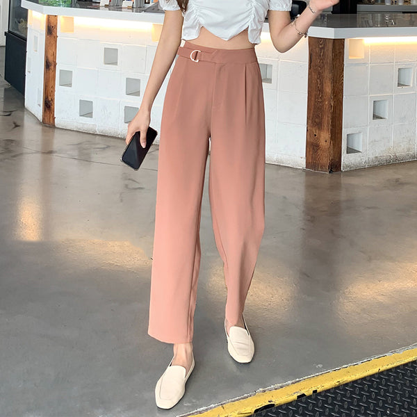 Wide-Leg Belted Trouser
