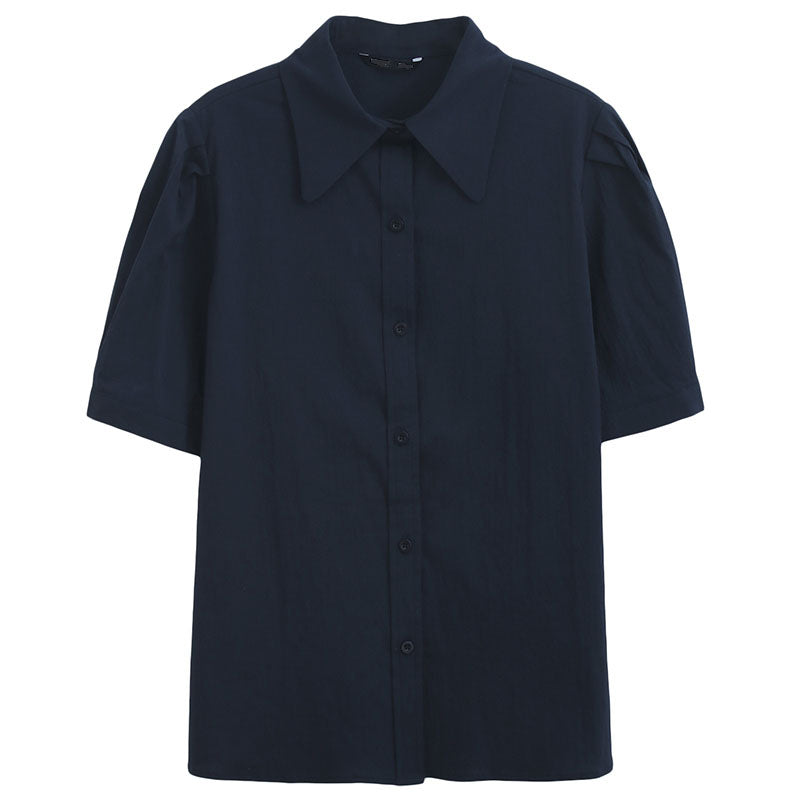 Puff Sleeve Button-Down Shirt