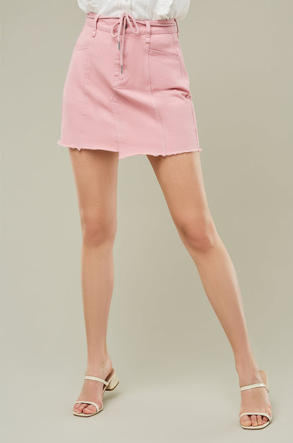 Asymmetrical Hem A-Line Mini Skirt