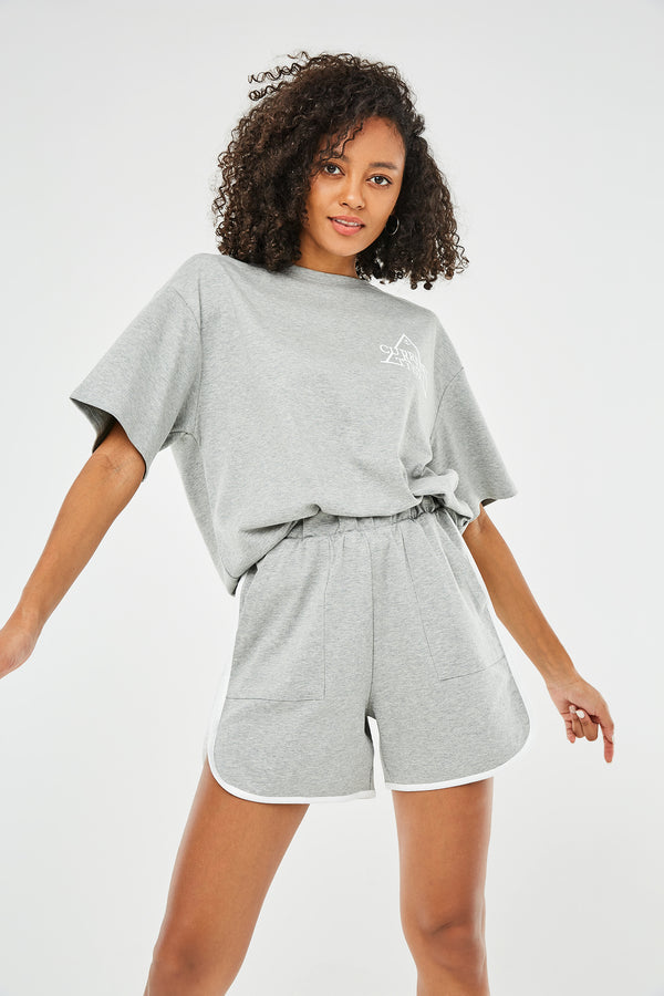 Short-Sleeve Tee & Knit Shorts Two-Piece-Set