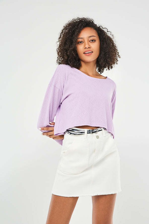 Belted Double Pocket Mini Pencil Skirt
