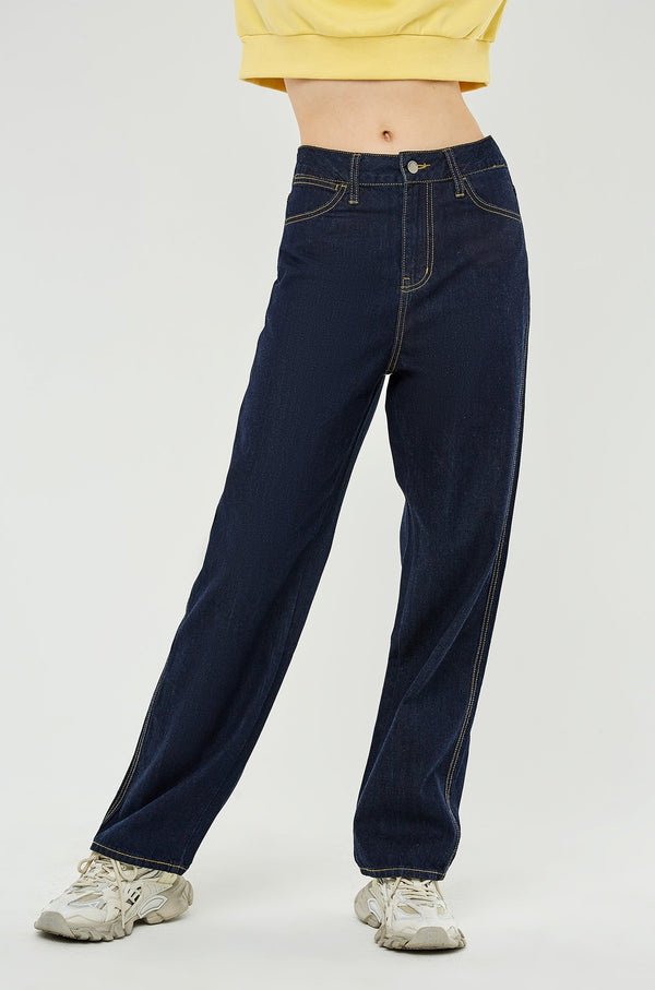 High-Waist Loose-Fit Wide-Leg Jeans
