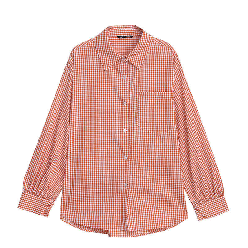 Plaid Tie Waist Boyfriend Shirt