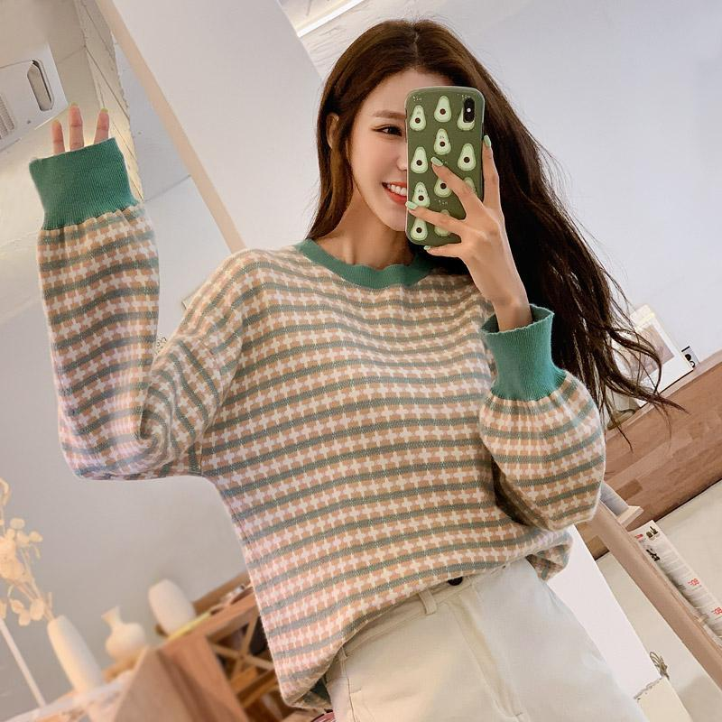 Plaid Crossings Knit Sweater
