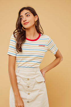 Sundays Best Stripe Knit Top