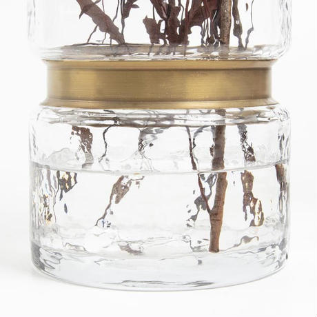 JAMBALA Vase 19.5 cm clear glass