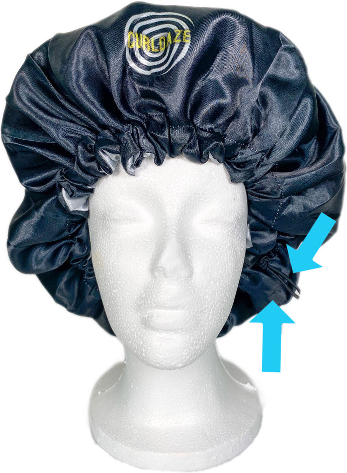 No-Slip Extra Large Satin Bonnet w/ Drawstring