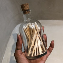 Load image into Gallery viewer, Large luxury matchstick jar with white tip matches