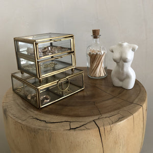 Two Drawer Glass Jewellery Box