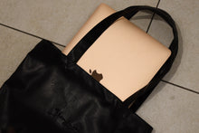 Load image into Gallery viewer, Black vegan leather tote bag (unisex)