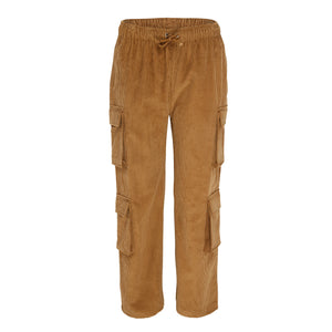 Womens corduroy cargo trousers