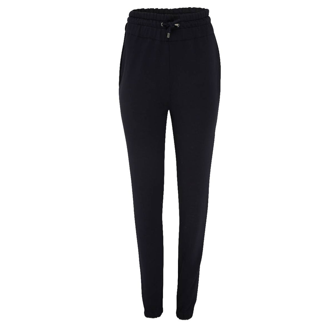 Black Sheen London Fitted High Waist Joggers