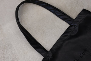 Black vegan leather tote bag (unisex)