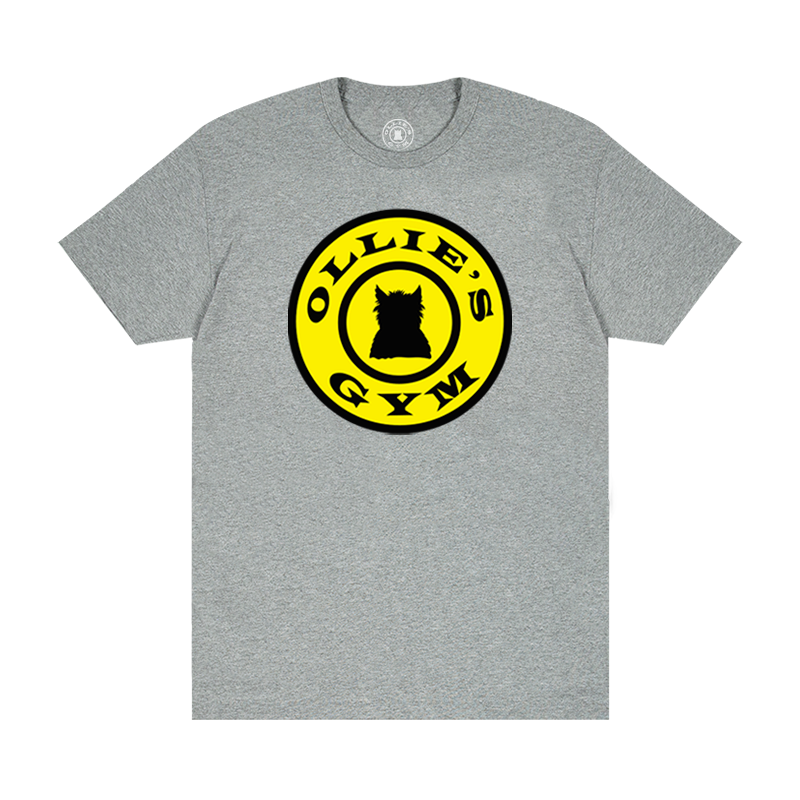 Ollie's Gym Circle Badge Jersey Tee - Heather Grey