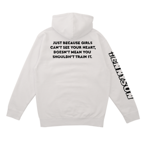 Train Your Heart Hoodie in White