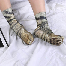 Load image into Gallery viewer, Animal Paws Socks