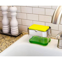 Load image into Gallery viewer, 2-in-1 Soap Dispenser Pump & Sponge Holder