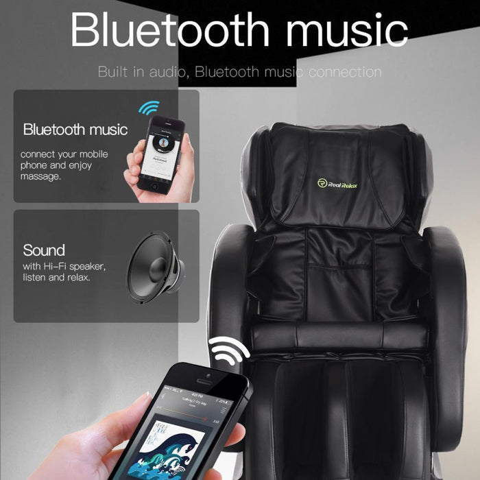 Real Relax Massage Chair Recliner with Zero Gravity, Full Body, Shiatsu Heated Massage, FDA Approved
