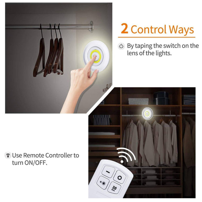 Battery Operated LED Light for Cabinet, Wardrobe, and Bathroom with Remote Control