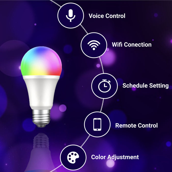 Neon Smart eBulb - Color Changing w/ Remote