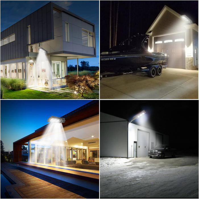 90W Smart Solar LED Security Lamps for Residential & Commercial Properties, Driveways, Farms & Parking Lots