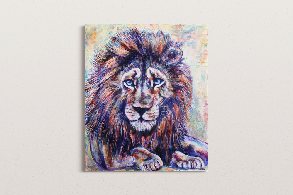 "Sunshine in my pocket – Lion (30x36"")"