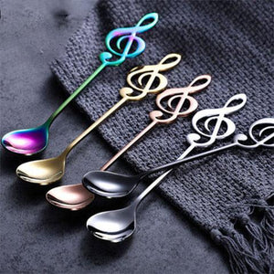 20%OFF-Music coffee stainless steel spoon