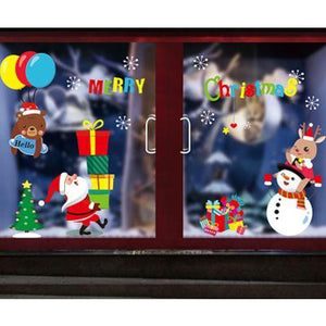 【Limited time offer 40%】Christmas Window Electrostatic Stickers