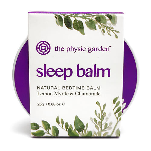 The Physic Garden Sleep Balm 100% Organic and natural Lemon Myrtle & Chamomile Lavender vegan certified Kids - Modern Hemp Industries | Home of Hemp! We promote Hemp products and using Hemp!