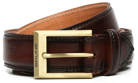 BUCKLE HAND PAINTED LEATHER FORMAL BELT FOR MEN