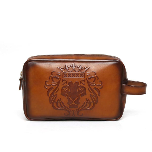 Brune Lion Embossed Tan Leather Kit