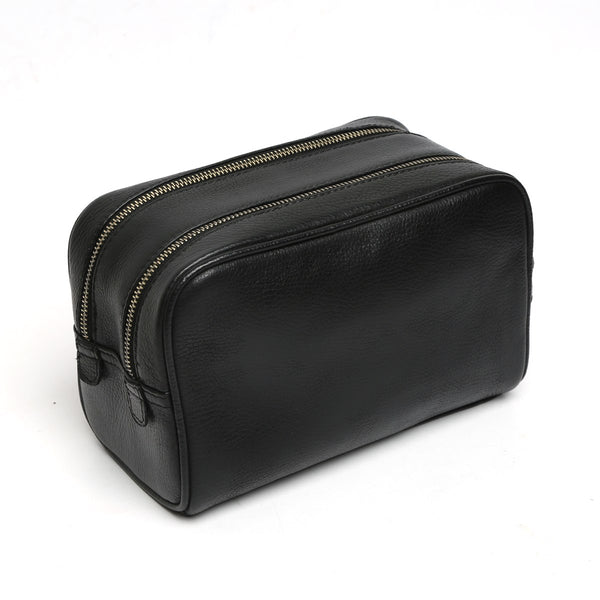 BLACK toiletry kit bag with Two zip compartment