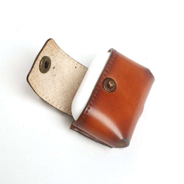 AirPods Pro Tan Leather Carrying Case by Brune & Bareskin